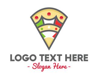Slice - Italian Pizza logo design