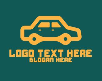 Electric Car - Orange Car Repair logo design