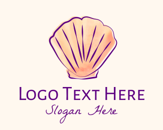 Beach Resort - Seashell Shell logo design