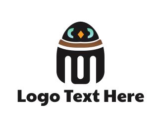 Robotics - Penguin Robot logo design