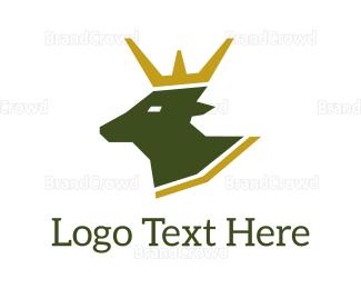 King - Deer King logo design