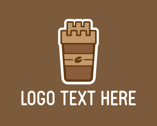 Iced Coffee - Coffee Castle logo design