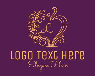 Vintage - Decorative Vintage Mirror Lettermark logo design