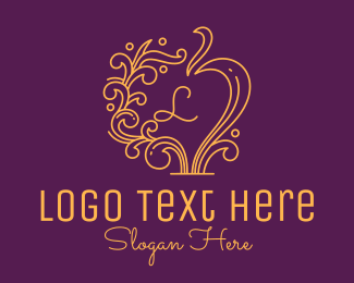 Arrangement - Decorative Vintage Mirror Lettermark logo design