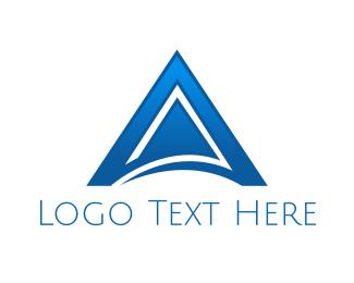 Spear - Arrow Letter A logo design