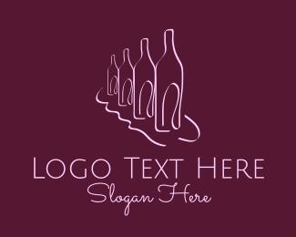 Sommelier - Wine Bar Lounge  logo design