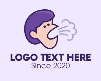 Sick - Coughing Person logo design
