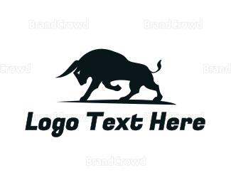 Protein Shake - Strong Bull logo design