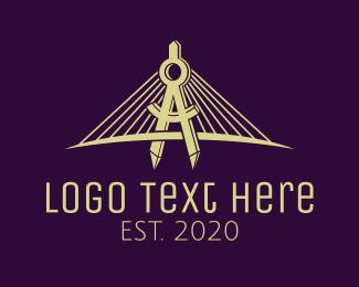 Crossover - Bridge Architect Engineer logo design