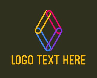 Attachment - Paper Clips logo design