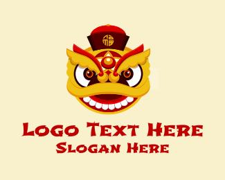 Dragon Head - Asian Dragon Mascot  logo design