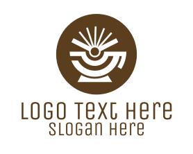 Steampunk - Radiant Cafe Cup logo design