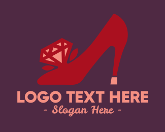High Heels - Rose Diamond Shoes logo design