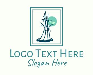 Frame - Bamboo Plant Frame logo design