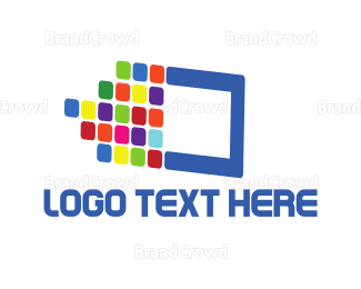 Technological - Digital Colors logo design