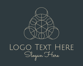 Heavenly Bodies - Geometric Astrology Collage logo design