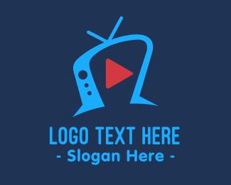 Tv Show - Youtube Sitcom Television logo design