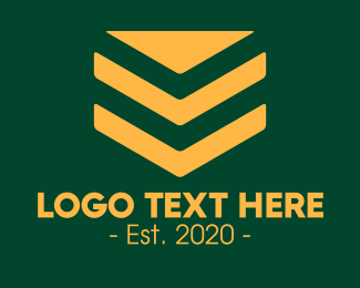 Sergeant - Golden Corporal Badge logo design