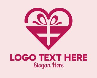 Valentines Day - Valentine's Day Heart Present  logo design