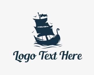 Pirate - Old Ship Logo logo design