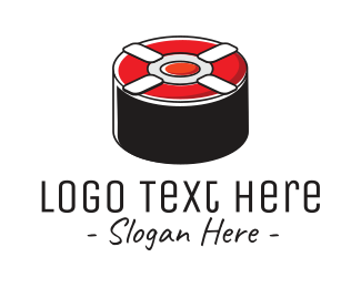 Japanese Food - Sushi Lifesaver logo design