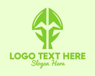 Life - Green Growing Plant logo design