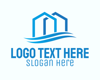 Leasing - Real Estate Waves logo design