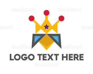 Kids Party - Royal Bird logo design