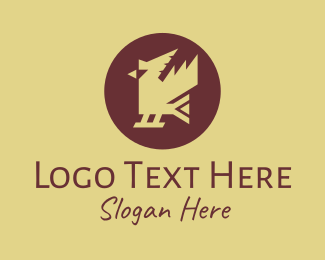 Fowl - Traditional Ethnic Bird logo design