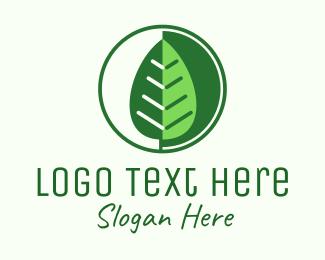 Agriculturist - Green Leaf Vegetarian logo design