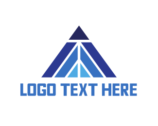 Asset - Blue Triangle Peak logo design