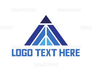 Blockchain - Blue Triangle Peak logo design