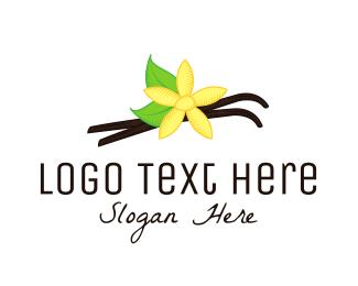 Flavor - Vanilla Flower logo design