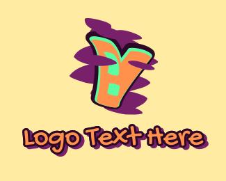 Arts - Graffiti Art Letter V logo design