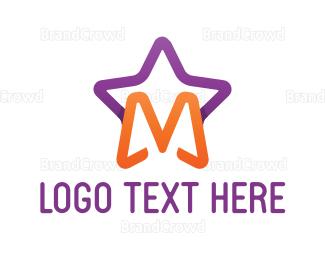 Entertain - Star Letter M logo design