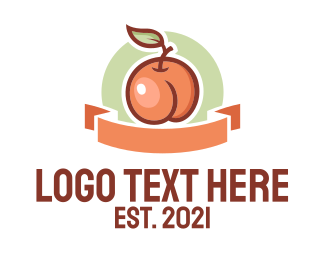 Market - Peach Fruit Market logo design