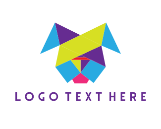 Geometric - Colorful Geometric Dog logo design