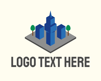 3d Model - 3D Urban City  logo design