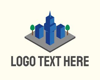 Urban - 3D Urban City  logo design