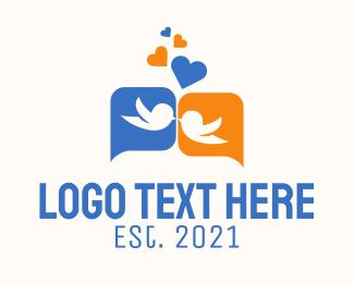 Twitter - Love Bird Chat logo design