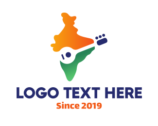 Music Lessons - Indian Sitar Player logo design