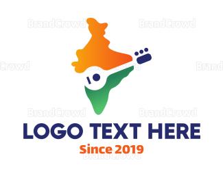 Player - Indian Sitar Player logo design