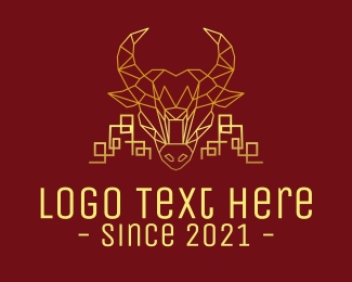 2021 - Golden Realty Ox logo design