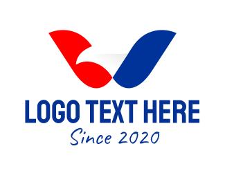 Airline - American Eagle Letter W logo design
