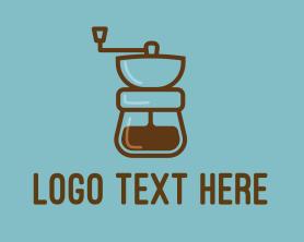 Restaurant - Coffee Maker Line Art logo design