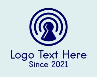 Secure - Security Keyhole Lock logo design