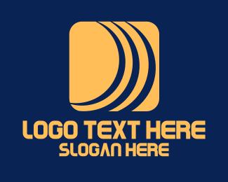 App - Sound Waves Technology App logo design