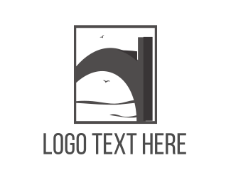 Bridge - Grey Bridge logo design