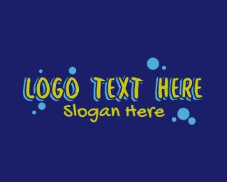 Art Class - Graffiti Paint Splatter Text logo design