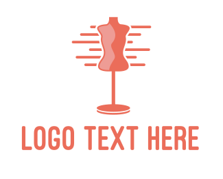 Apparel - Pink Fashion Designer logo design